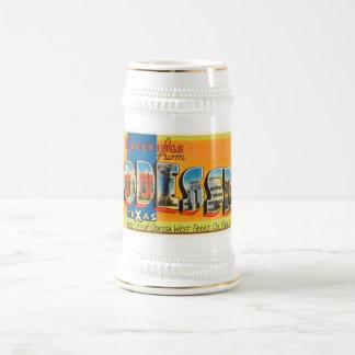 オデッサテキサス州TXの古いヴィンテージ旅行記念品 ビールジョッキ