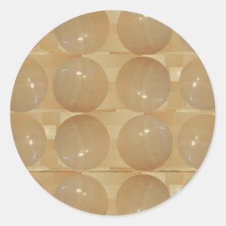 オニックス大理石の球-金ムギの宝石 ラウンドシール