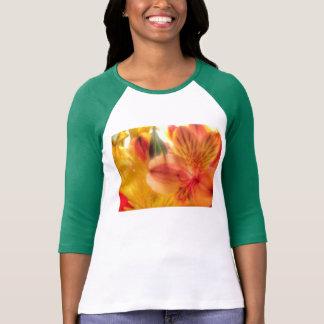 オニユリのraglanのワイシャツの女性 tシャツ