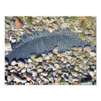 オハイオ川のカラフルな石 フォトプリント