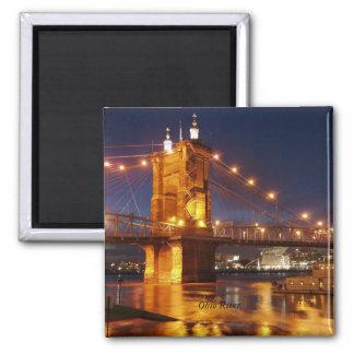 オハイオ川の吊り橋 マグネット