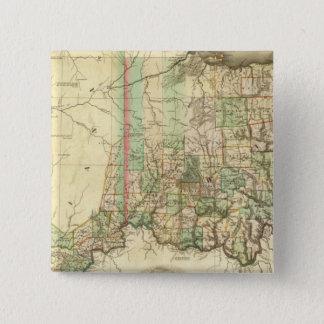 オハイオ州およびインディアナ2 5.1CM 正方形バッジ