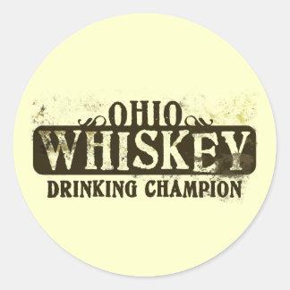 オハイオ州のウィスキーの飲むチャンピオン ラウンドシール