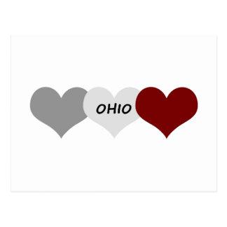 オハイオ州のハート ポストカード
