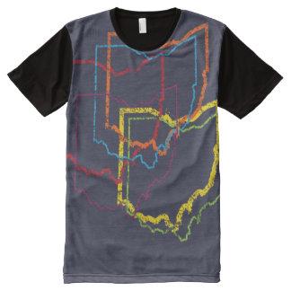 オハイオ州のプライドの汚点 オールオーバープリントT シャツ