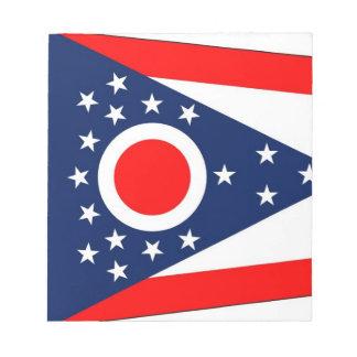 オハイオ州の国家の旗が付いているメモ帳 ノートパッド