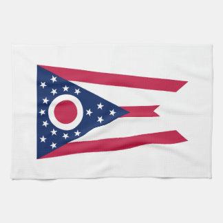 オハイオ州の州の旗 キッチンタオル
