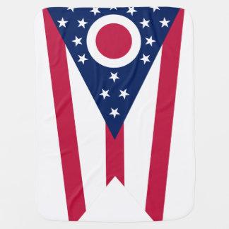 オハイオ州の州の旗 ベビー ブランケット