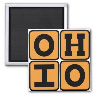 オハイオ州の州のOhioanのバックアイズ米国シンシナチクリーブランド マグネット