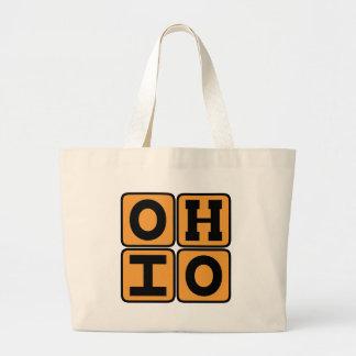 オハイオ州の州のOhioanのバックアイズ米国シンシナチクリーブランド ラージトートバッグ