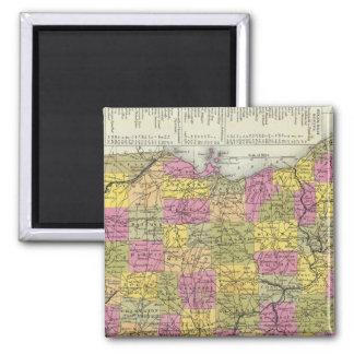 オハイオ州の新しい地図 マグネット