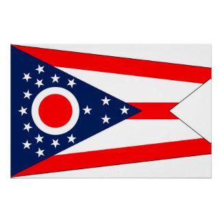 オハイオ州の旗が付いている愛国心が強いポスター ポスター
