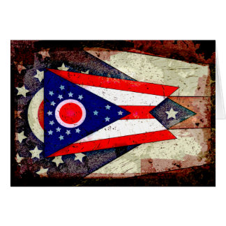 オハイオ州の旗 カード