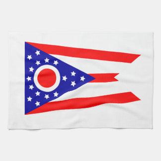 オハイオ州の旗 キッチンタオル