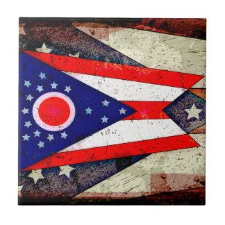 オハイオ州の旗 タイル