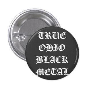 オハイオ州の本当の黒い金属 3.2CM 丸型バッジ