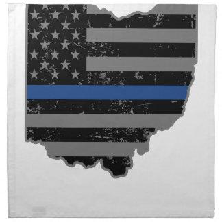 オハイオ州の警察及び法の執行の薄いブルーライン ナプキンクロス
