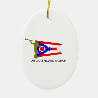 オハイオ州クリーブランドの代表団LDS CTR セラミックオーナメント
