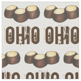 オハイオ州チョコレートピーナッツバターのバックアイズのナットキャンデーオハイオ州 ファブリック