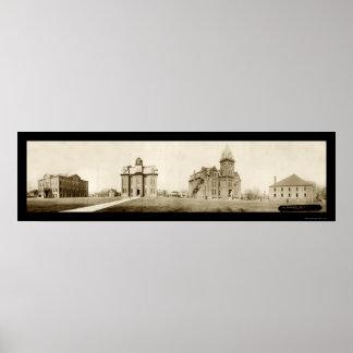 オハイオ州北大学Adaの写真1912年 ポスター
