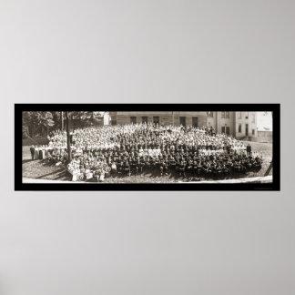 オハイオ州大学アテネの写真1914年 ポスター