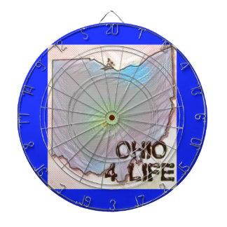 """""""オハイオ州4生命""""の州の地図のプライドのデザイン ダーツボード"""