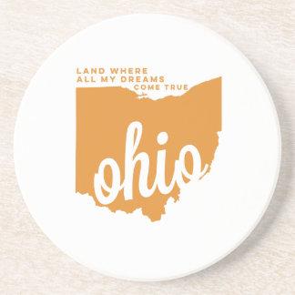 オハイオ州|の歌の叙情詩淡いオレンジ色の| コースター