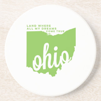 オハイオ州|の歌の叙情詩青リンゴ色の| コースター