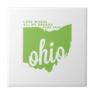 オハイオ州 の歌の叙情詩青リンゴ色の  タイル