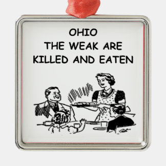 オハイオ州 メタルオーナメント