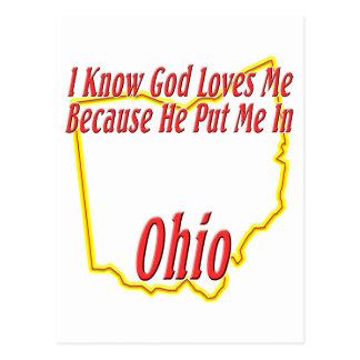オハイオ州-神は私を愛します ポストカード