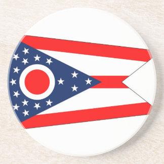 オハイオ州、米国の旗が付いているコースター コースター