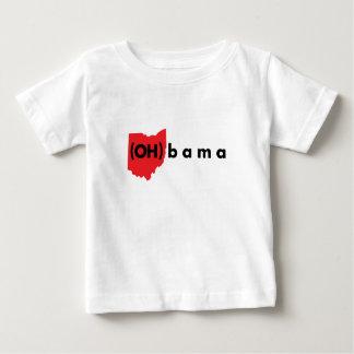 (オハイオ州) bama -赤および黒 ベビーTシャツ