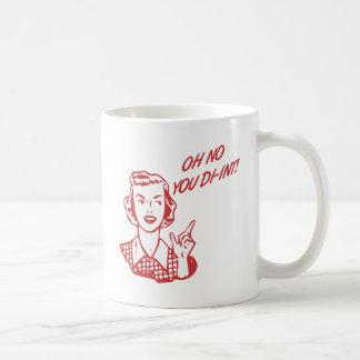 オハイオ州DI-INT! レトロの主婦の赤 コーヒーマグカップ