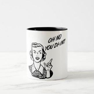 オハイオ州DI-INT! レトロの主婦B&W ツートーンマグカップ