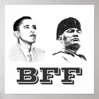 オバマおよびムッソリーニ: BFFポスター ポスター