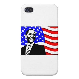オバマおよび旗 iPhone 4 COVER