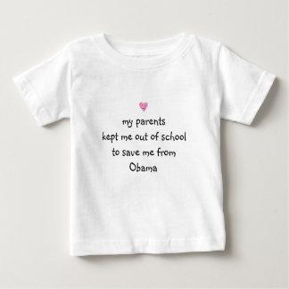 オバマから救われる! ベビーTシャツ
