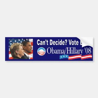 オバマかクリントン「08 バンパーステッカー