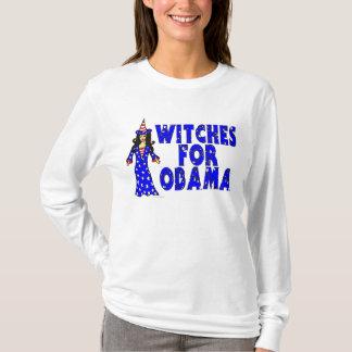 オバマのおもしろいハロウィンのための魔法使い Tシャツ