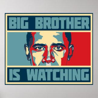 オバマのお兄さんはポスターを見ています ポスター