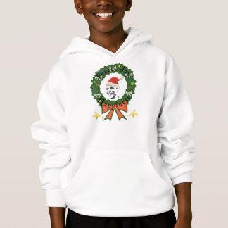 オバマのお祝いの休日はフード付きのスエットシャツをからかいます