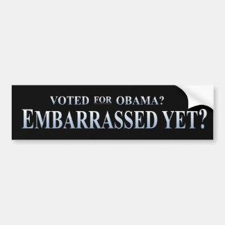 オバマのために投票されるか。 まだ当惑させるか。 バンパーステッカー