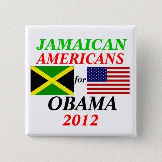 オバマのためのジャマイカのアメリカ人 缶バッジ