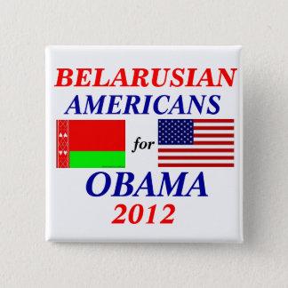 オバマのためのベラルーシのアメリカ人 5.1CM 正方形バッジ