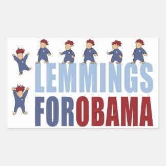 オバマのためのレミング 長方形シール