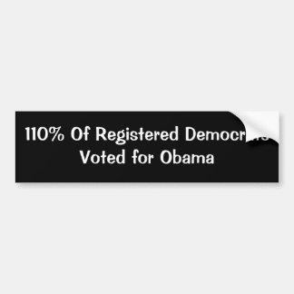 オバマのための登録されていたDemocratsVotedの110%年 バンパーステッカー