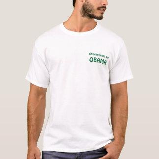 オバマのためのCheeseheads Tシャツ