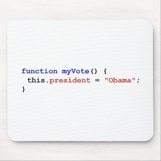 オバマのためのJavaScript マウスパッド