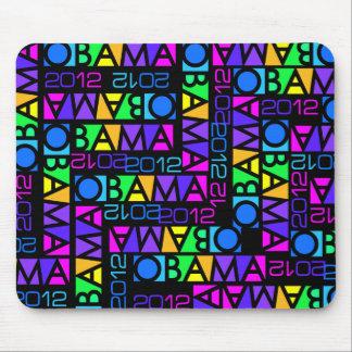 オバマのカラフルな2012年のmousepad マウスパッド